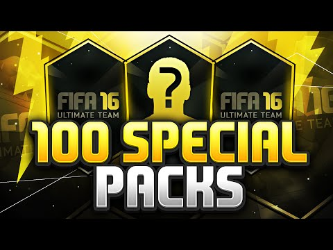 100 SPECIAL PACKS!!! Fifa 16 Pack Opening