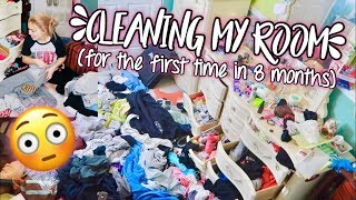 cleaning my room for the first time in 8 months