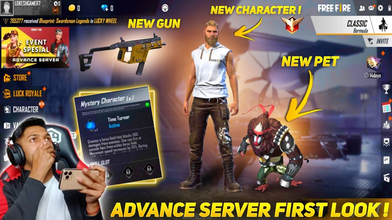New Advance Server First Look New Character & New Pet & New Emotes & New Map 2.0 Garena Free Fire