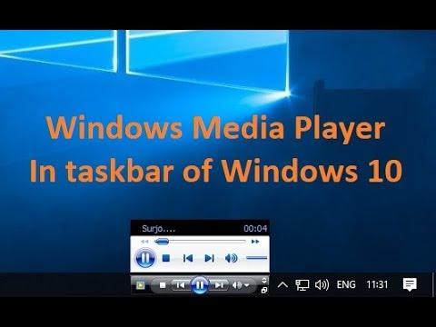 Set Windows Media Player In The Right Side Of Taskbar In Windows 10