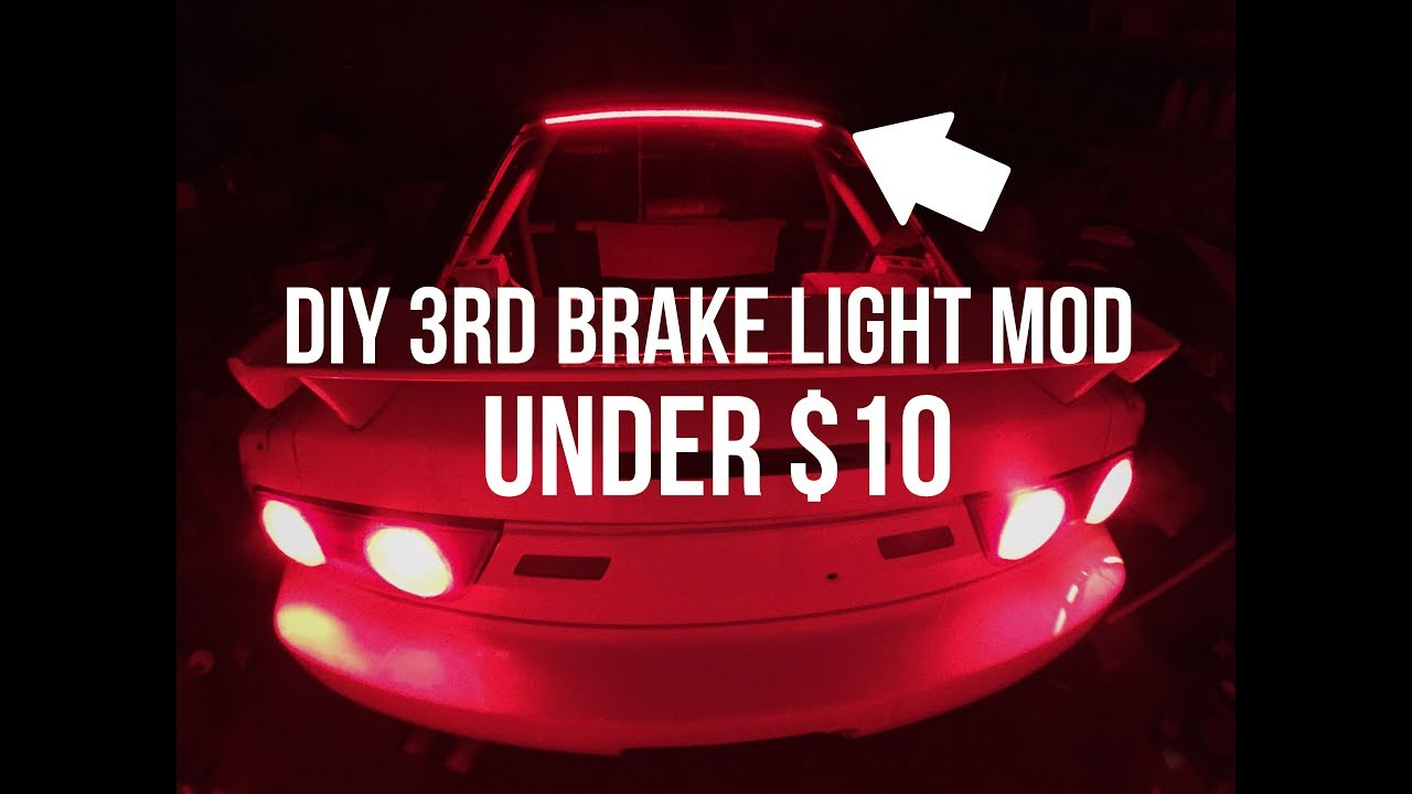 Diy 240sx 3rd brake light led strip under 10 youtube diy 240sx 3rd brake light led strip under 10 aloadofball Image collections