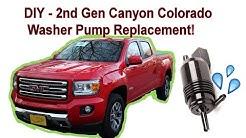 DIY 2016 Chevy GMC Colorado Canyon 2nd Gen Washer Pump Replacement onza04