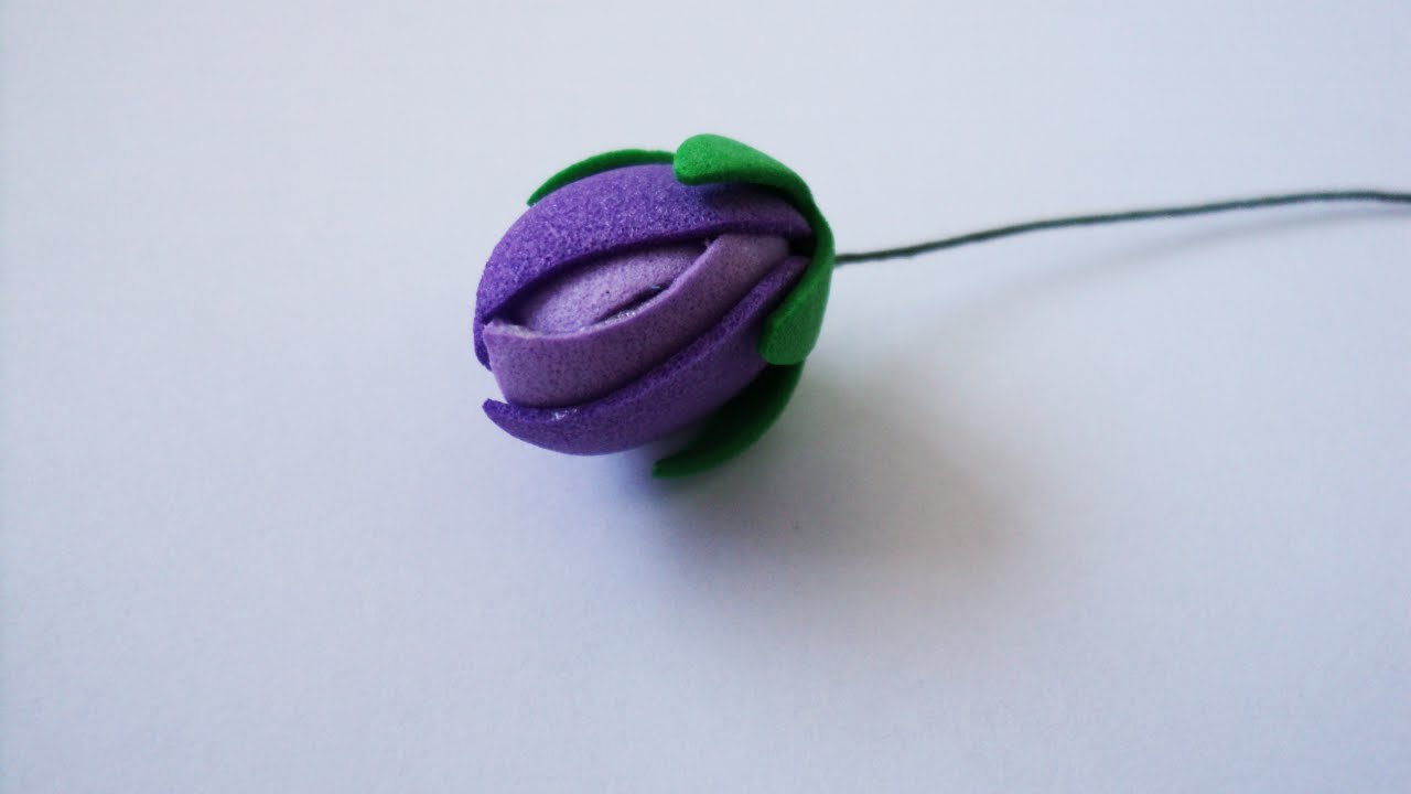 Memory foam for crafts - How To Make A Pretty Foam Flower Bud Diy Crafts Tutorial Guidecentral
