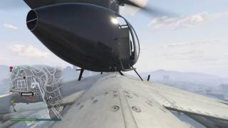 Grand Theft Auto V Helicopter lands on a Flying Jet WIN