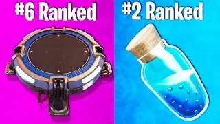RANKING EVERY ITEM IN FORTNITE FROM WORST TO BEST!