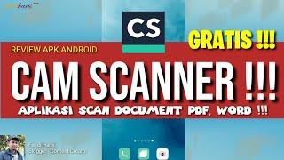 CAMSCANNER REVIEW APLIKASI SCAN DOKUMEN KE WORD, PDF, EXCEL GRATIS ! APK ONLINE PRO + #TUTORIAL CARA screenshot 2