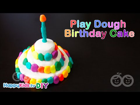 Play Dough Birthday Cake | Paper Crafts | Kid's Crafts And Activities | Happykids DIY