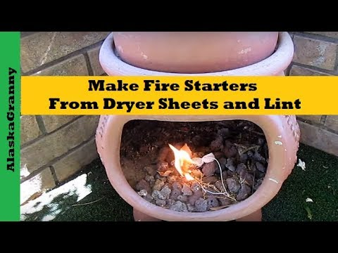 How to Make Fire Starters with Report Sheets and Dryer Lint