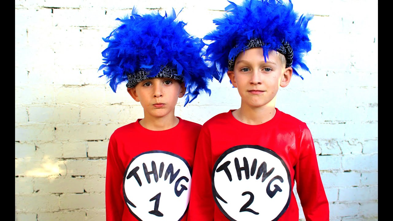 How To Make Thing 1 And Thing 2 Dress Ups