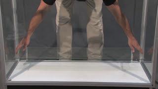 48'' Extra Vision Metal Framed Display Case | Item 29354