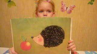 Симпатичный ежик - поделка из семечек своими руками DIY Cute hedgehog of sunflower seeds