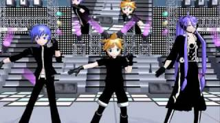 「MMD」- Imitation Black/Interstellar Flight Dance - 【Kaito, Gakupo, and Len】