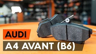How to replace Brake pad set AUDI A4 Avant (8E5, B6) Tutorial