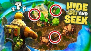 10,000 IQ HIDING SPOTS - Hide & Seek in Fortnite