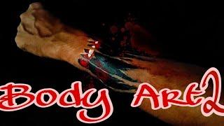 Body art horror makeup