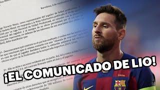 ¿Qué dice el comunicado que envió Lionel Messi en Barcelona? 😱🚨