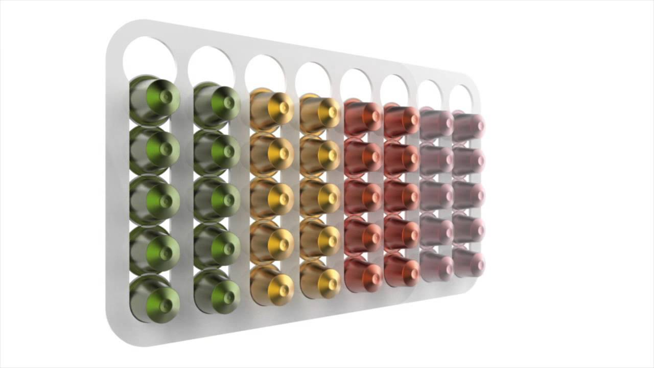 nespresso coffee capsule holder pod stand youtube. Black Bedroom Furniture Sets. Home Design Ideas