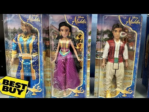 toy-hunting-*-disney-aladdin-movie-action-figures-blue-genie-jasmine-2019---best-buy