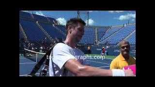 Robin Soderling - Signing Autographs at the 2011 U.S. Open in Flushing Meadows