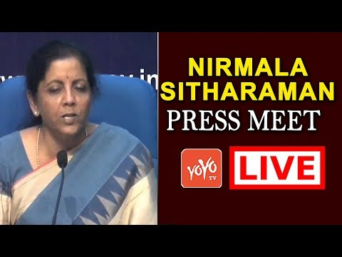 Union Finance Minister Nirmala Sitharaman Press Meet LIVE | MP Modi | YOYO TV Channel