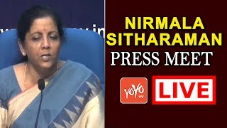 Union Finance Minister Nirmala Sitharaman Press Meet LIVE | MP Modi