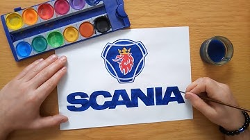 How to draw the Scania logo