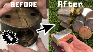 15 Pound Alloy Block Melt  - Bars & Blanks - Trash To Treasure - ASMR Metal Melting