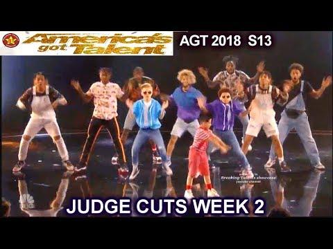 The Future Kingz Dance Group IMPRESSIVE America's Got Talent 2018 Judge Cuts 2 AGT