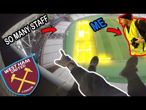 SNEAKING INTO WEST HAM STADIUM... *Almost caught*