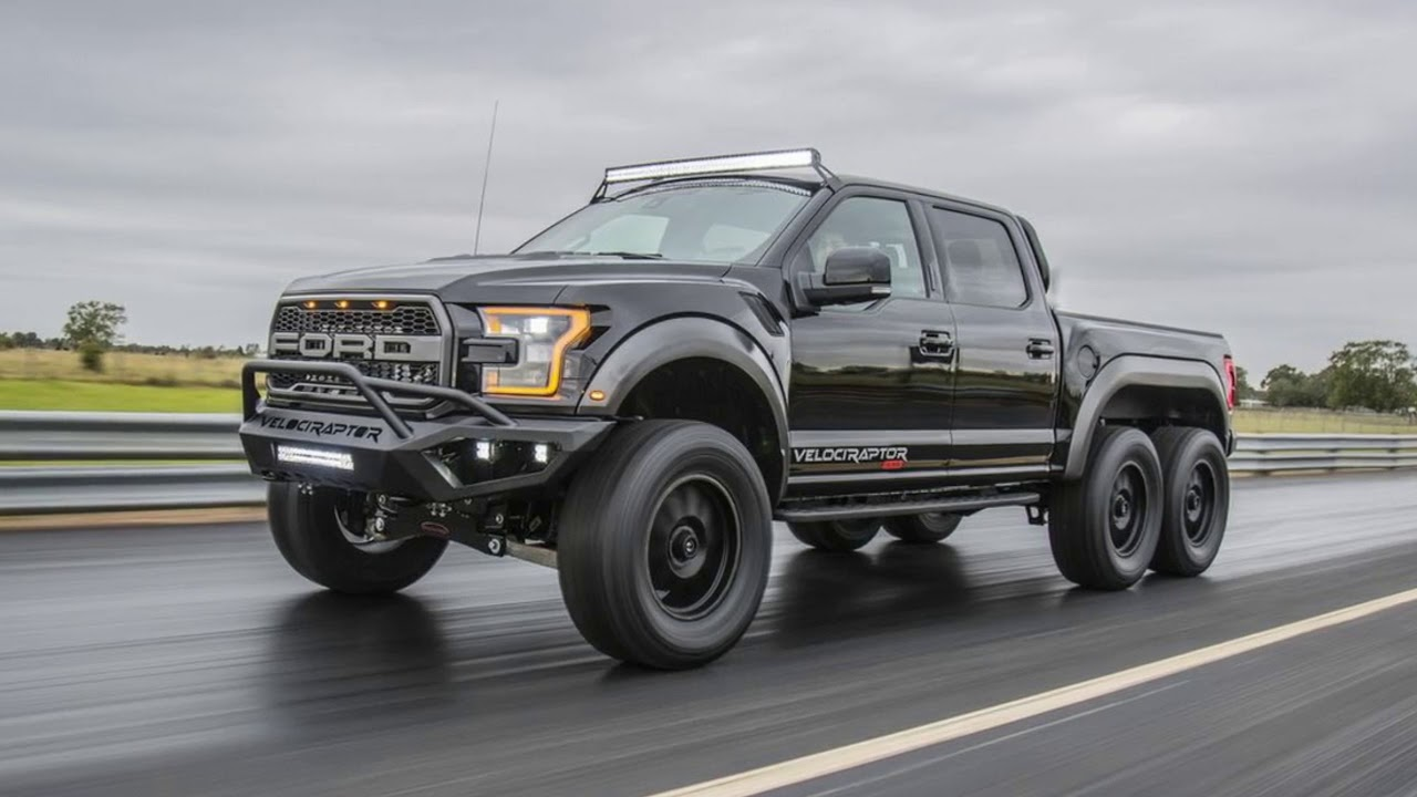 Ford Raptor 2013 >> Hennessey VelociRaptor 6x6 Ford F-150 First Look Debuts at SEMA 2017 - YouTube