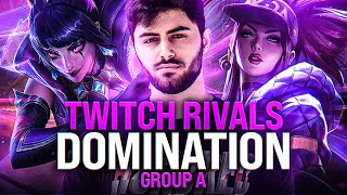 TWITCH RIVALS DOMINATION! - Group A vs Boxbox, Metaphor