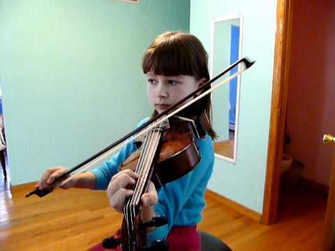 Anastasiya plays viola - Can Can