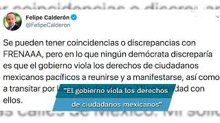El expresidente de México compartió un mensaje en Twitter en donde se solidariza con el Frente Nacional Anti-AMLO (FRENAAA), quien mantiene un plantón en la CDMX