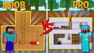 NOOB VS PRO SECRET BASE CHALLENGE! -Minecraft Noob vs Pro w/TinyTurtle