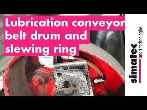 Lubrication Of Conveyor Belt Drum And Slewing Ring