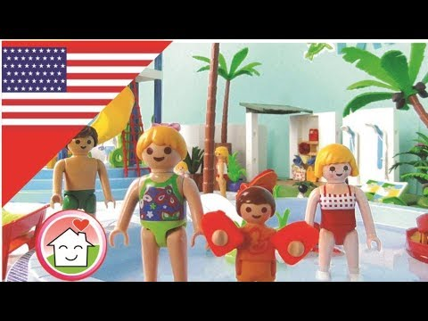 Playmobil Movie At The Water Pool Slide Park / Childrenu0027s Film From The  Hauser Family