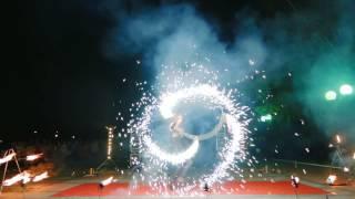 """Фаер-шоу """"Золото Веков"""" на свадьбе 2014. Фрагмент из свадебного фильма."""