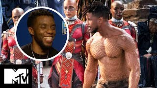 Black Panther Workout Tips: Chadwick Boseman Talks Diet & Gym Routine | MTV Movies