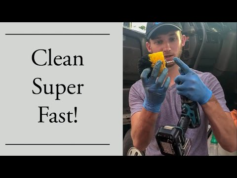 Fast way to clean door cup holders!