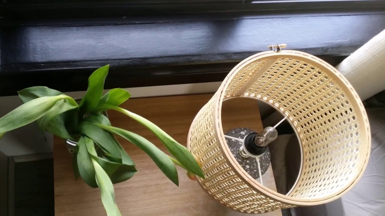 The Small Reno Project Decor Diy Lamp Shade Using Rattan Webbing