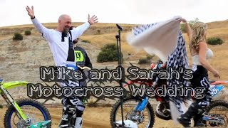 Mike and Sarah's Motocross Wedding at Diablo MX in Brentwood ca.