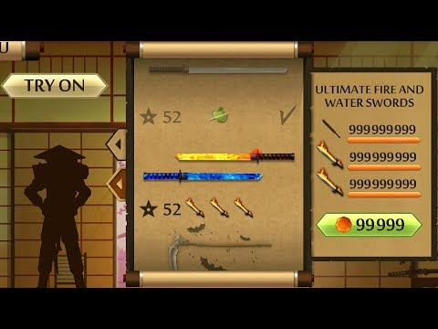 Shadow Fight 2 The Most Powerful Fire And Water Swords
