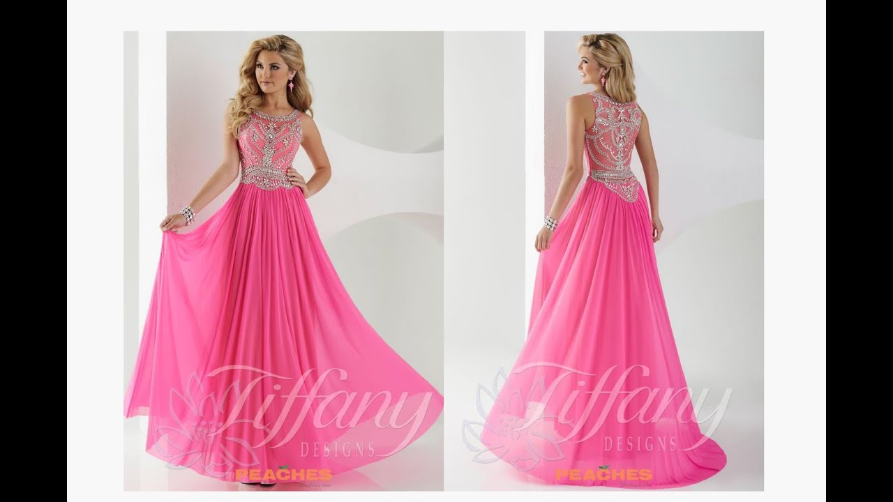 Tiffany Prom Dress 16152 - YouTube