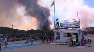 Var: des vacanciers évacués du camping à cause des incendies