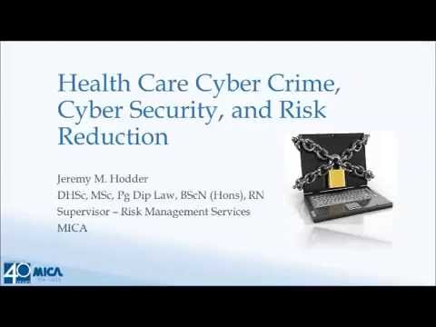 Lunch & Learn: Healthcare Cyber Crime, Cyber Security, and Risk Reduction