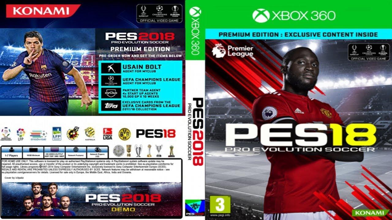DLC: PES 2018 – DATA PACK 4 0 + TU6 – XBOX 360 DESBLOQUEIO RGH