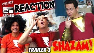 🎬 Shazam ⚡ Reaction Trailer 2 - Irmãos Piologo Filmes