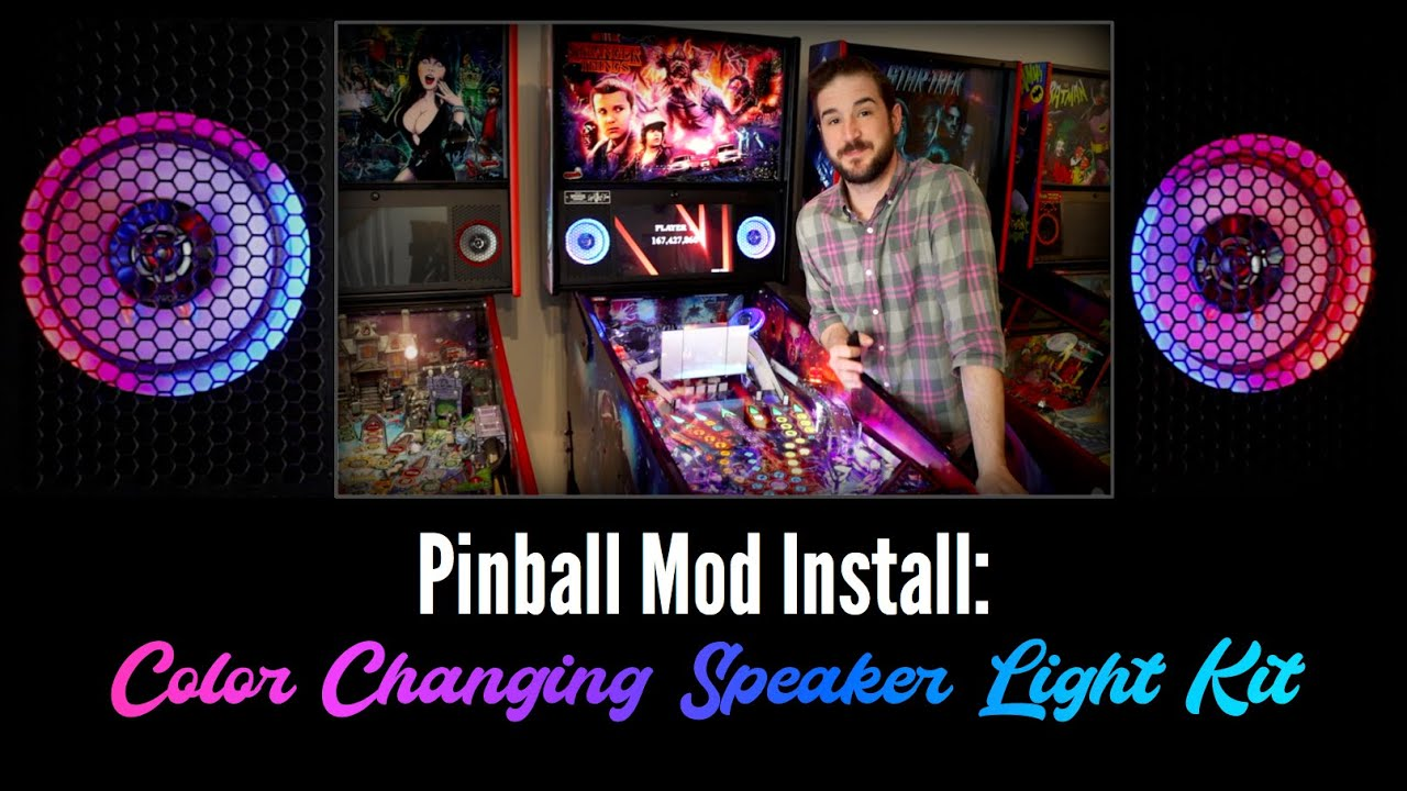 Pinball Mod Install: Color Changing Speaker Lights by speakerlightkits.com