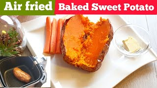 HOW TO BAKE WHΟLE SWEET POTATOES IN AIR FRYER. AIR FRIED BAKED WHOLE SWEET POTATOES RECIPE #airfryer