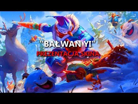 """Bałwan Yi"" ""Snow Man Yi"" Master Yi 2018 S9 LoL (Prezentacja skina league of legends)"